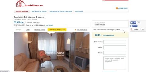 Anunt Coris House 85000