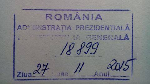 Nr. inreg. Cotroceni